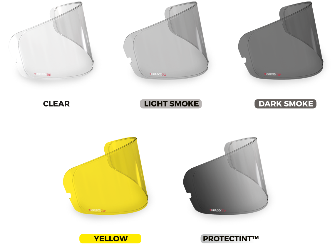 ARAI Helmets SAL Yellow Shield Visor Quantum RX-7 Corsair Profile Astral Vector